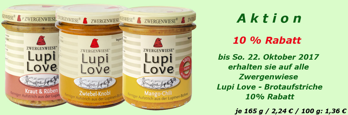 Zwergenwiese Lupi Love - Lupinen Brotaufstrich
