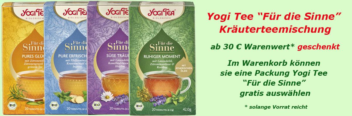 Yogi Tee Für die Sinne