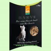BARVA Fleisch-Snack für Katzen Geflügel (Defu Biofutter)