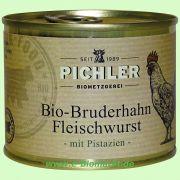 Bruderhahn Bio-Fleischwurst mit Pistazie (Pichler)