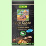 Bitterschokolade 90% Kakao mit Kokosblütenzucker HIH (Rapunzel)