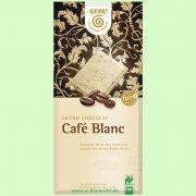 Café Blanc - Weiße Bio Schokolade mit Instant-Kaffee (Gepa)