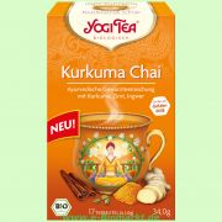 Kurkuma Chai - Ayurvedische Kräuter- und Gewürzteemischung (Yogi Tea)