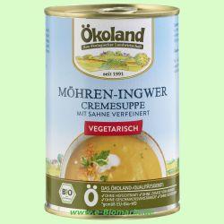 Möhren-Ingwer Cremesuppe, hefefrei, vegetarisch (Ökoland)