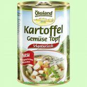 Kartoffel-Gemüse-Topf mit vegetarischen Würstchen (Ökoland)