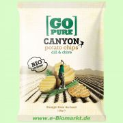 Canyon Chips dill & chive - Kartoffelchips mit Dill und Knoblauch (Go Pure)