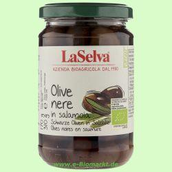 Dunkle Oliven, mit Stein, in Salzlake (La Selva)