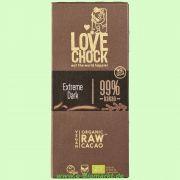 Tafel Extreme Dark 99 % Kakao RAW Schokolade (Lovechock)