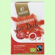 Erdbeere für Dich - Erdbeerstücke in weißer Schokolade (Landgarten)