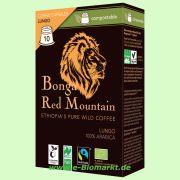 Wildkaffee Lungo, Kapseln kompostierbar (Bonga Red Mountain)