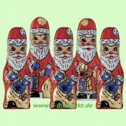Schoko-Weihnachtsmann massiv in Stanniolpapier (Rosengarten)
