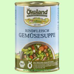 Rindfleisch Gemüsesuppe, hefefrei (Ökoland)