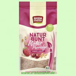 Naturbunt Rotes Porridge Himbeer-Cranberry (Rosengarten)