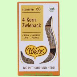 4-Korn Vollkorn-Zwieback, glutenfrei (Werz)