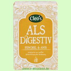 Als Digestiv Kräutertee (Cleos)