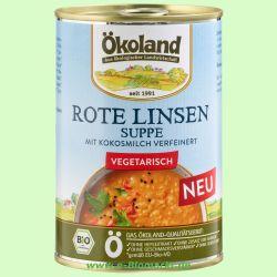 Rote Linsensuppe, vegetarisch (Ökoland)