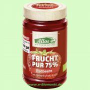 Erdbeere - Frucht Pur 75 % - Fruchtaufstrich (Allos)