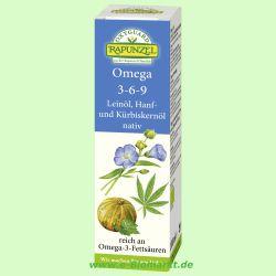 Omega 3-6-9 - Leinöl, Hanf- und Kürbiskernöl (Rapunzel)