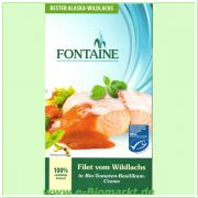 Wildlachs-Filets in Bio-Tomate-Basilikum-Creme (Fontaine)