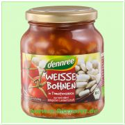 Weiße Bohnen, in Tomatensauce (dennree)