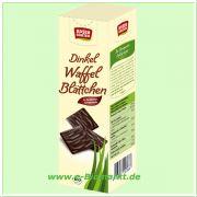 Feine Dinkel-Waffelblätter, in Zartbitterschokolade (Rosengarten