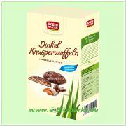 Dinkel Knusperwaffeln, Vollmilch mit Mandelsplitter (Rosengarten
