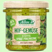 Hofgemüse Steffi`s Spinat-Pinienkerne - pflanzlicher Bio-Brotaufstrich (Allos)