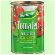 Tomaten fein stückig mit Basilikum (Dennree)
