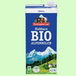 Haltbare Alpen-Milch 1,5 % (Berchtesgadener Land)