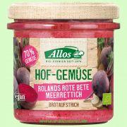 Hofgemüse Roland`s Rote Beete-Meerrettich - pflanzlicher Bio-Brotaufstrich (Allos)
