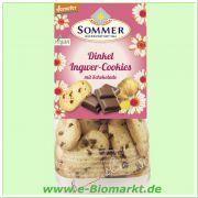 Dinkel-Ingwer Cookies, mit Schokostückchen (Sommer & Co.)