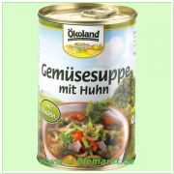 Gemüsesuppe mit Huhn (Ökoland)