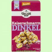 Dinkel-Kaiserschmarrn mit Rosinen - Backmischung (Bauckhof)
