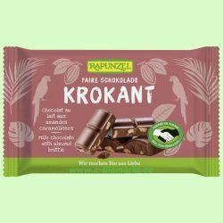 Vollmilch Cristallino Schokolade mit Mandelkrokant HIH (Rapunzel