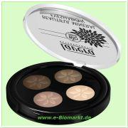 Beautiful Mineral Eyeshadow Quattro Cappuchino Cream 02 (Lavera)