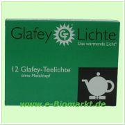 Teelicht gegossen, ohne Metallhülse (Glafey)
