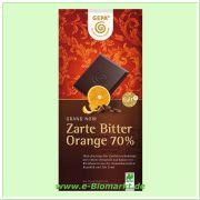Grand Noir Bio Orange Bitterschokolade, 70% Kakao (Gepa)