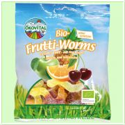 Bio-Frutti-Worms, ohne Gelatine (Ökovital)