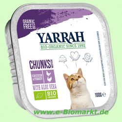 Katzenfutter Bröckchen Huhn und Truthahn (Yarrah)