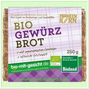 Gewürzbrot, geschnitten - Bio Roggenvollkornbrot mit Gewürzen (Frankenkorn)
