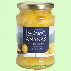 Ananasstücke im eigenen Saft (Bioladen)