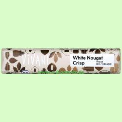 White Nougat Crisp Schokoriegel mit Reisdrink (Vivani)