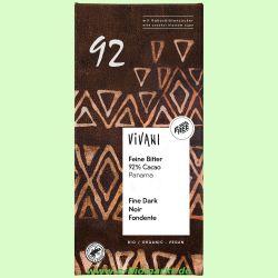Feine Bitter 92 % Cacao - Schokolade (Vivani)