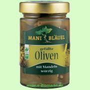 Oliven gefüllt mit Mandeln (Mani-Bläuel)
