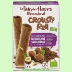 Crousty Roll mit Nuss-Nougatfüllung (Blumenbrot)