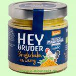 Bruderhahn an Curryrahm im Glas (bioladen)