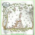 Lunchservietten Blossoms and Bunnies white (Ideal Home Range GmbH)