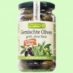 Gemischte Oliven mit Kräutern, ohne Stein (Rapunzel)