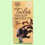 Tuiles Chocolat Noir Noisettes - Zartbitterschokolade 72% mit Haselnussstücken (Truffettes de France)