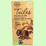 Tuiles Chocolate Lait Caramel - Milchschokolade 37% mit Karamellstückchen (Truffettes de France)